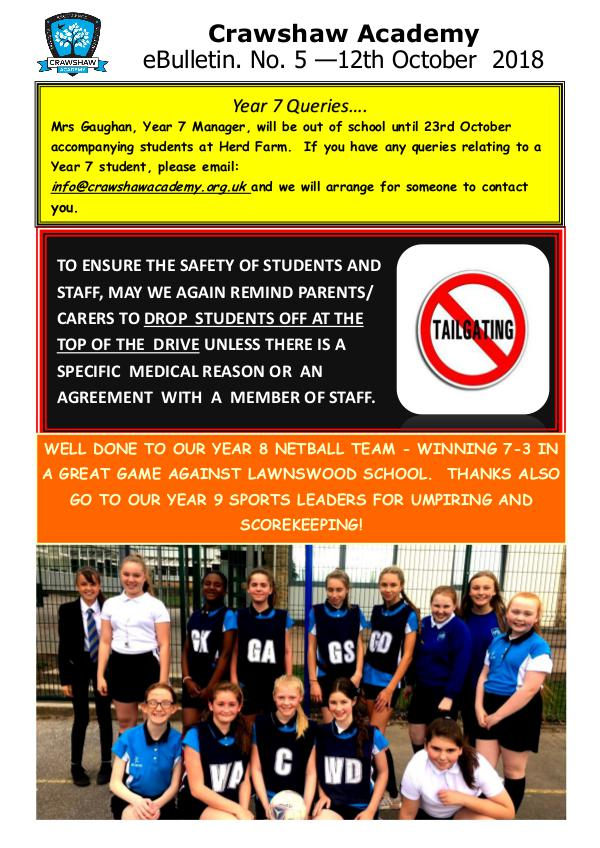 Crawshaw Academy Ebulletins EB 12 10 18