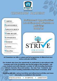 Crawshaw Extra curricular Activities