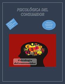 PSICOLOGÍA DE EL CONSUMIDOR