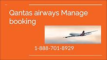 qantas airlines manage my booking 1-888-701-8929