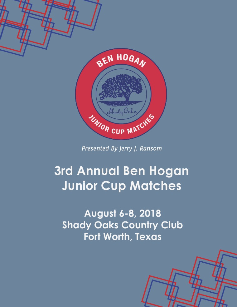 Ben Hogan Junior Cup Matches 2018 Teams: Introduction