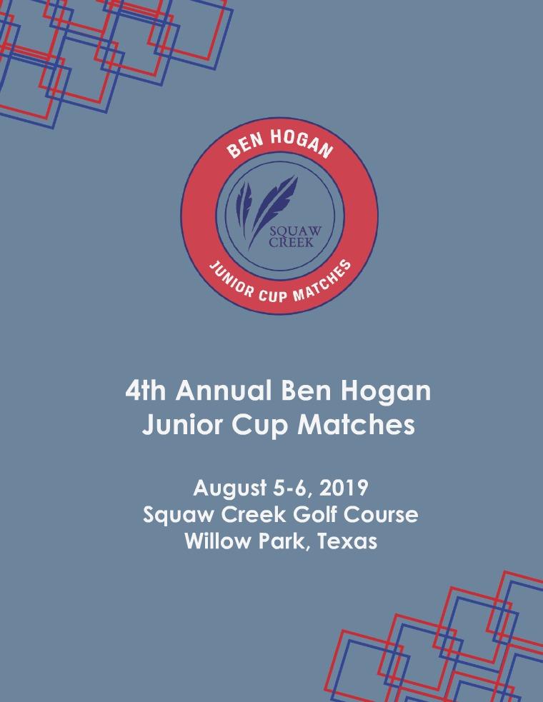 Ben Hogan Junior Cup Matches 2019 Teams: Introduction