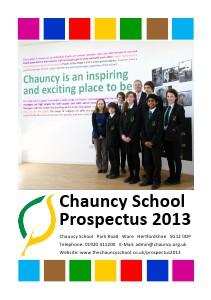 Chauncy Prospectus 2013 October 2013