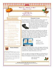 September Newsletter 9-2013