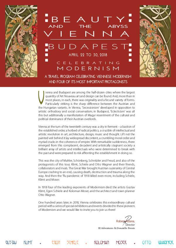 Vienna and Budapest 2018 Vienna and Budapest PU 2018