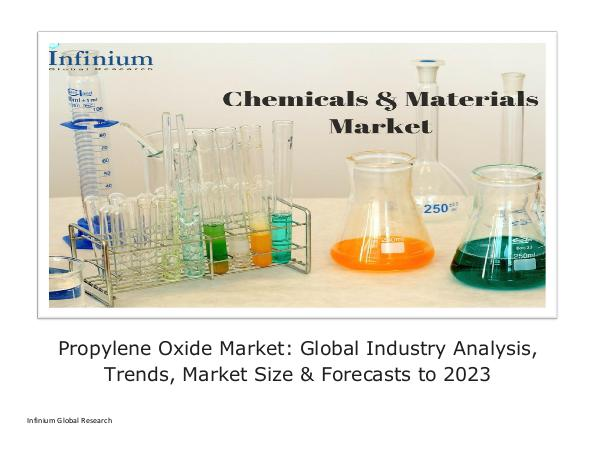 Infinium Global Research Propylene Oxide Market Global Industry Analysis Tr