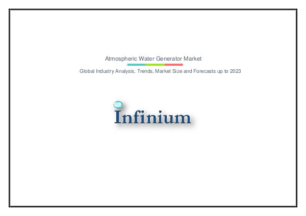Atmospheric Water Generator Market