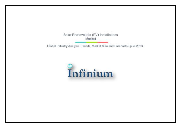 Infinium Global Research Solar Photovoltaic (PV) Installations Market