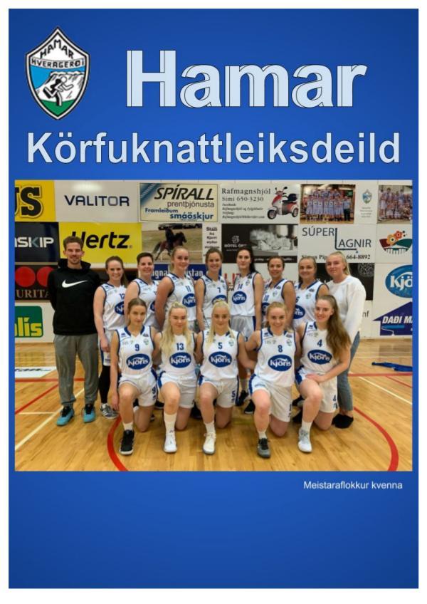 Hamar - basketball Hamar blað tilbúið 2019