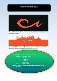 Affordable Website Design and Development Services