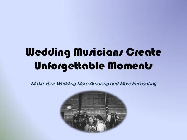 St. Royal Entertainment Wedding Musicians Create Unforgettable Moments