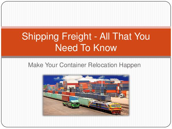 Ontario Container Transport Shipping Freight - All That You Need To Know