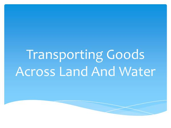 Ontario Container Transport Transporting Goods Across Land And Water