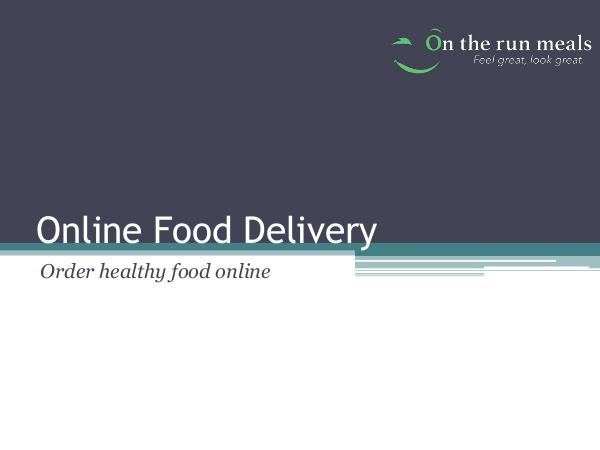 On The Run How To Order healthy food online