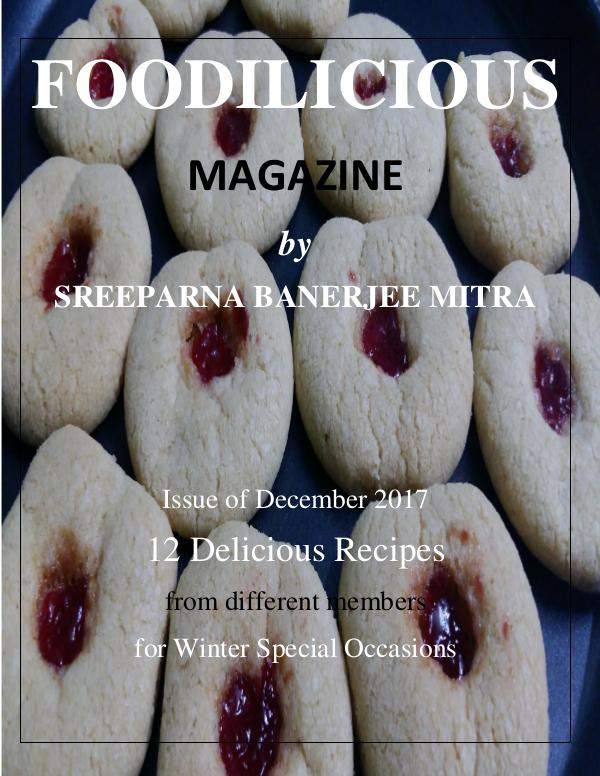 FOODILICIOUS Issue of December 2017