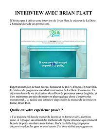 Brian Flatt: La Diète 2 Semaines PDF / Avis Téléchargement Gratuit