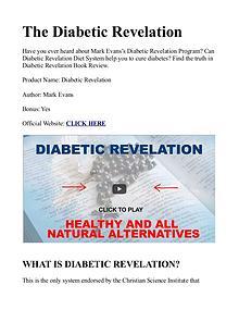 Diabetic Revelation PDF / Guide, Book Free Download