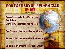 Portafolio Geografía Mundial III