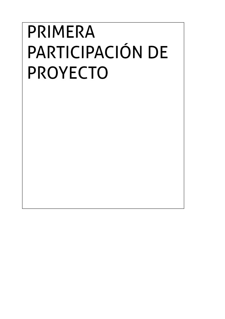 Primera participación del proyecto proyecto