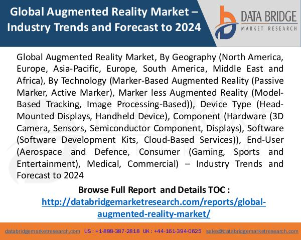 Global Augmented Reality Market, 2017 agumented reality market