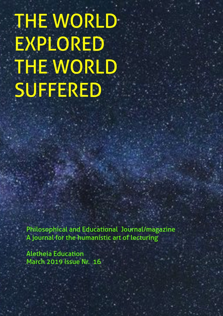The World Explored, the World Suffered Education Issue Nr. 16 March 2019