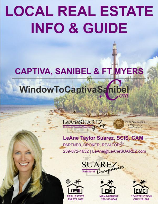 Captiva Sanibel SWFL Real Estate Guide August 2018 Captiva Sanibel SWFL Real Estate Guide - August