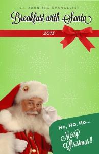 Event Programs Breakfast With Santa 2013