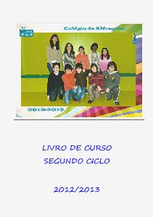 LIVRO DE CURSO DO 6.º ANO CEB ANO LETIVO 2012/2013