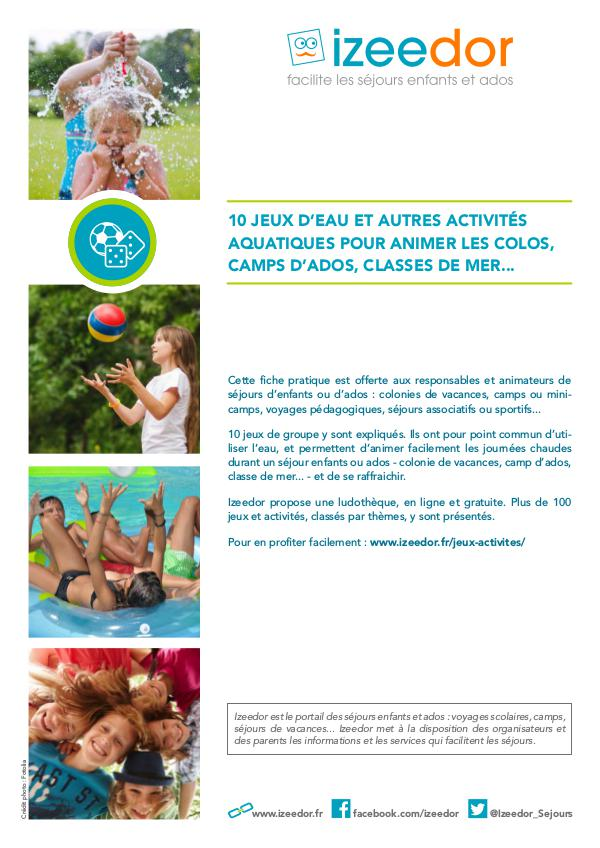 Jeux d'eau et activités aquatiques