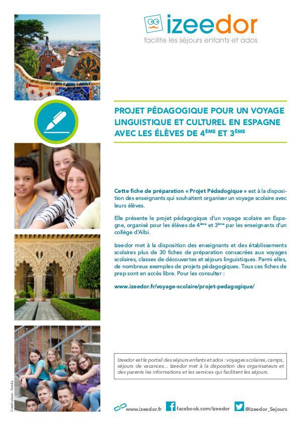 IZEEDOR Dossier pédagogique voyage scolaire Espagne