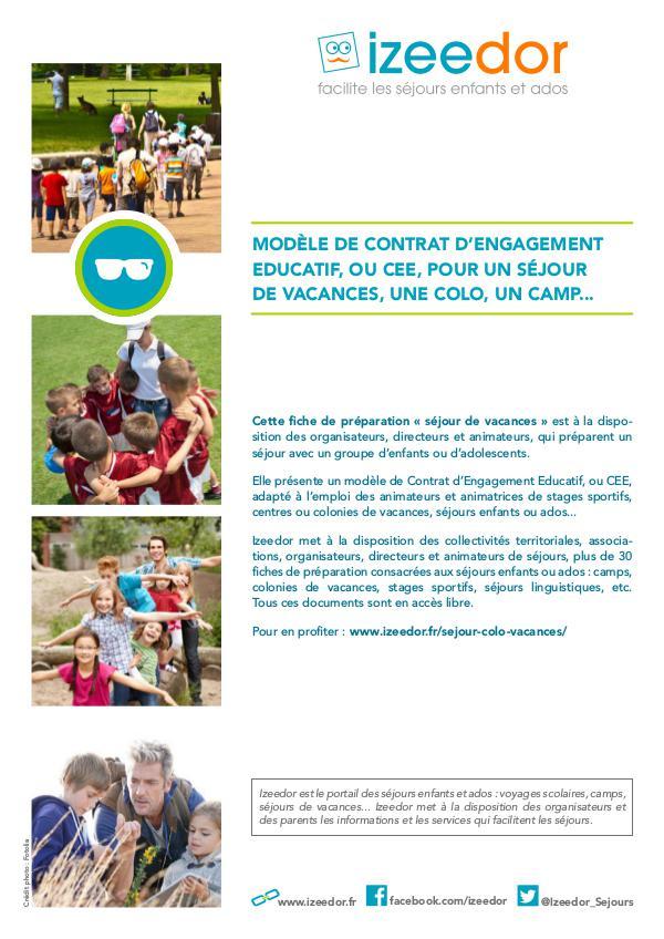 IZEEDOR Modèle de Contrat d'Engagement Educatif – CEE.