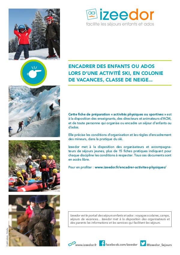 Les règles pour encadrer des mineurs à ski