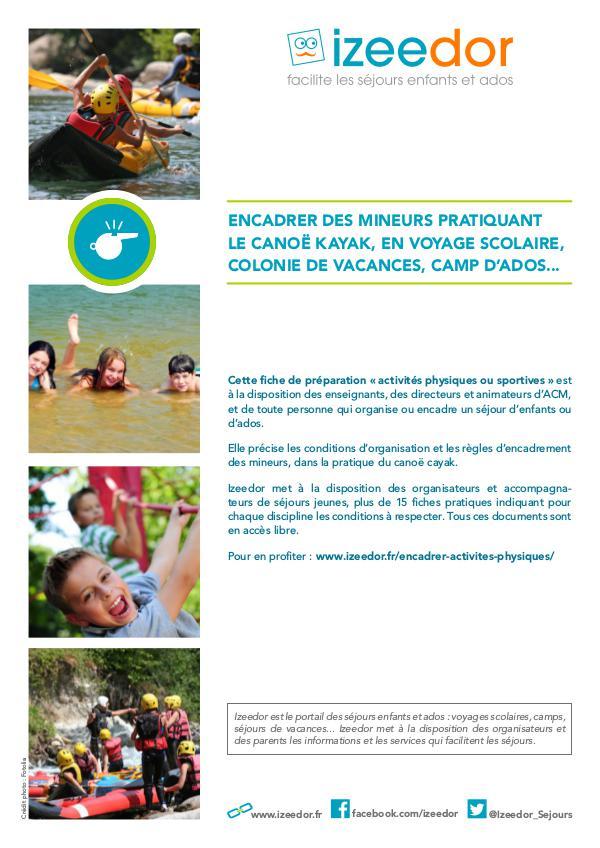 Encadrer des enfants ou adolescents en canoë kayak