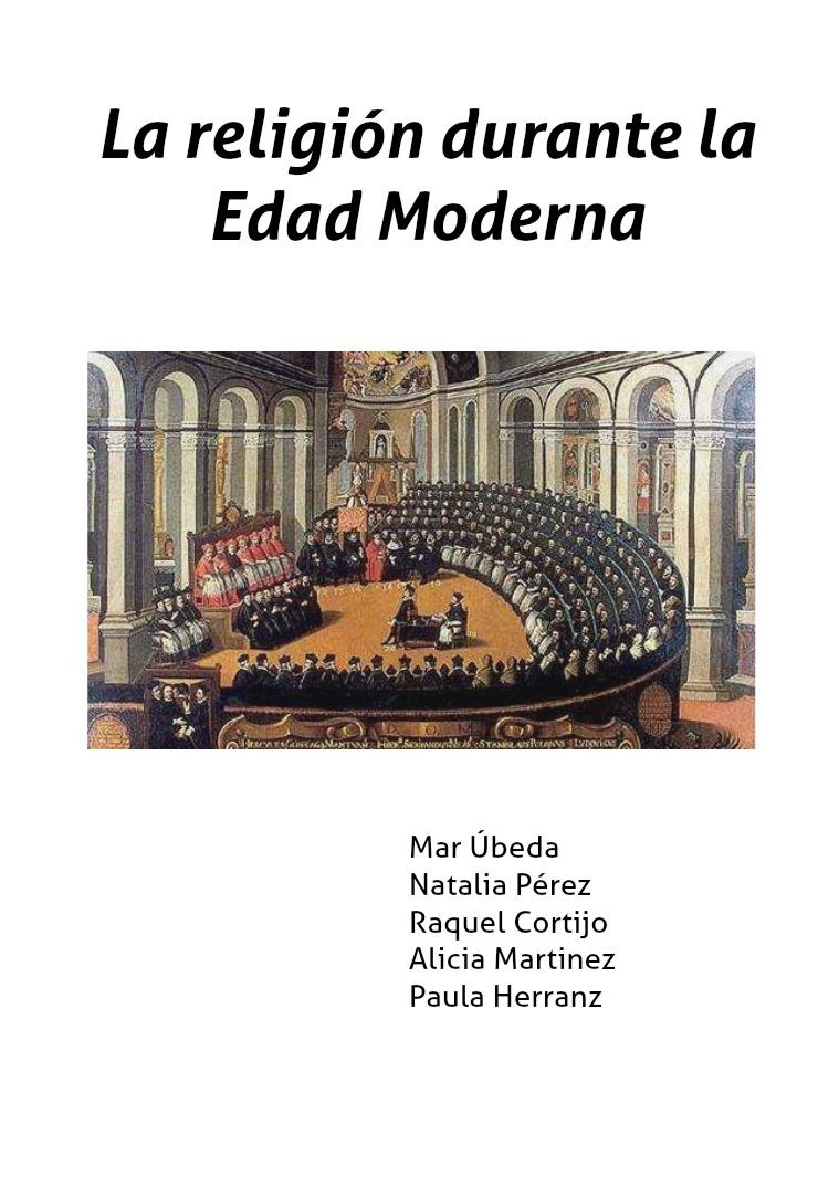 La religión en la Edad Moderna Moderna
