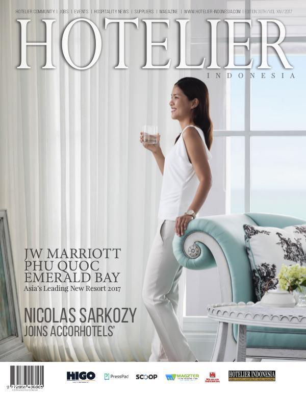 Hotelier Indonesia Magazine 30th Edition Edition 30th Finale 2017