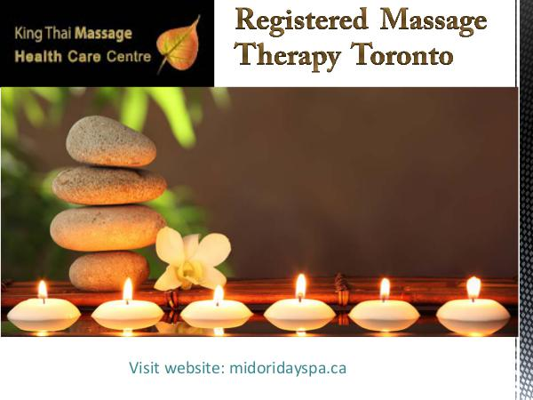 Registered massage therapy Toronto Registered Massage Therapy in Toronto