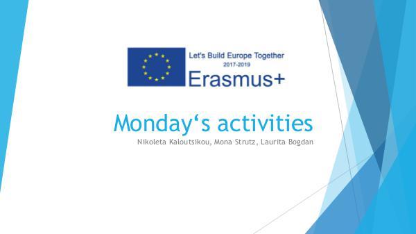 Monday's activities at Austria erasmusMondayactivities