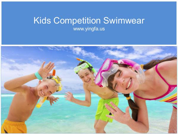 Kids Competition Swimwear Kids Best Flexible Competition Swimwear