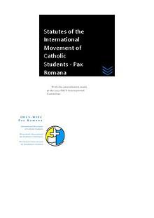 Statutes of the International Movement of Catholic Students