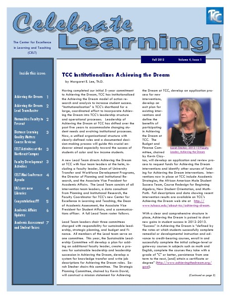 Fall 2012 (Volume 4, Issue 1)