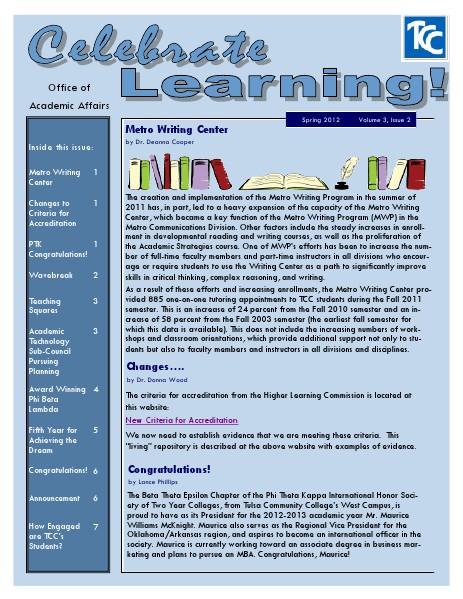 Spring 2012 (Volume 3, Issue 2)