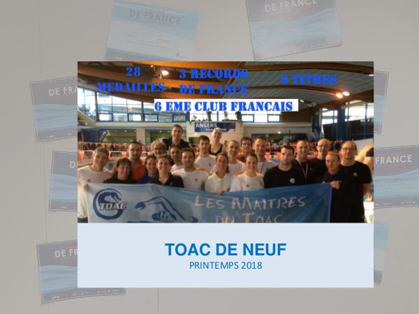 Newsletter TOAC NATATION 2019 Mai 2018