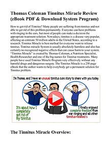 Tinnitus Miracle PDF / eBook System Free Download