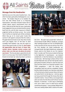 All Saints Newsletter