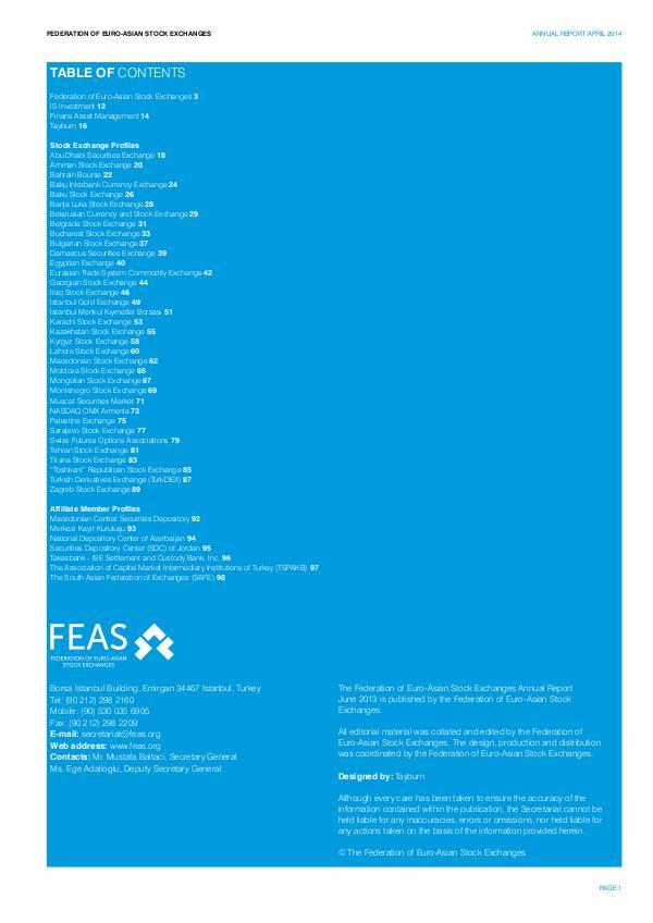 FEAS Yearbook 2014