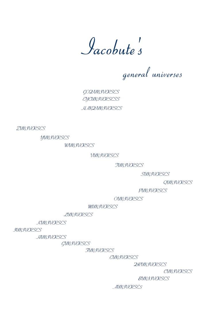 IACOBUTE'S general universes magazine