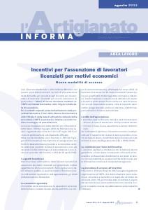 L'Artigianato Informa Agosto 2013