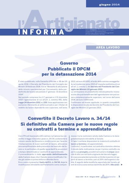 L'Artigianato Informa Giugno 2014