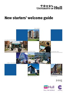 The University of Hull New staff members welcome brochure 2013