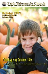 Faith Tabernacle Church Magazine October 2013